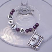 Number 1 Teacher Personalised Wine Glass Charm